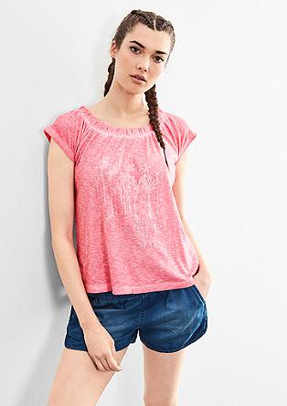 Off Shoulder-Shirt mit Print