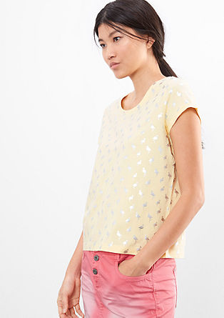 T-shirt with a metallic print from s.Oliver