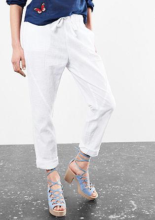 Gwen boyfriend: lichte linnen broek