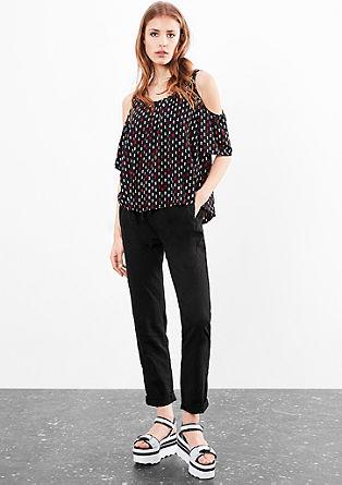 Gwen Boyfriend: lightweight linen trousers from s.Oliver