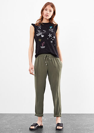 Lightweight crêpe trousers from s.Oliver