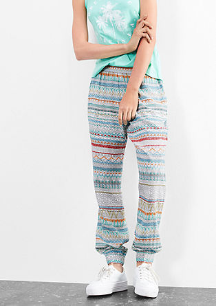 Patterned cloth trousers from s.Oliver