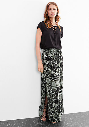 Maxi skirt with an all-over print from s.Oliver