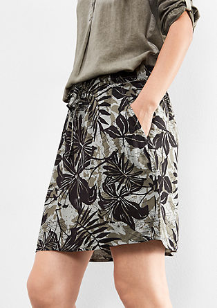 Mini skirt with an all-over print from s.Oliver