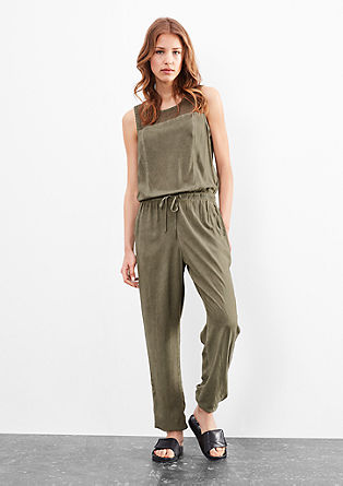 Jumpsuit in blouse fabric from s.Oliver