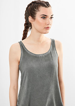 Blouse top with a garment-dyed finish from s.Oliver