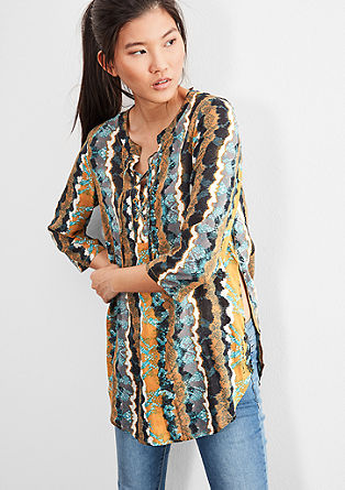 Tuniekblouse met all-over print
