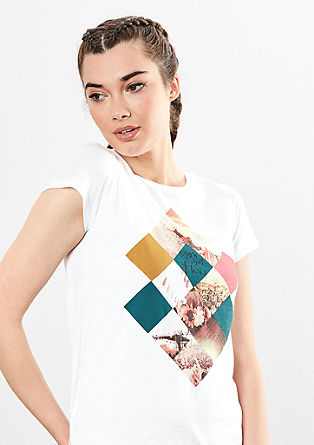 T-shirt with a positioned print from s.Oliver