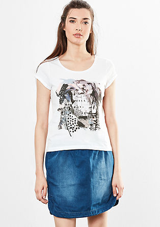 Shirt mit Collagen-Print