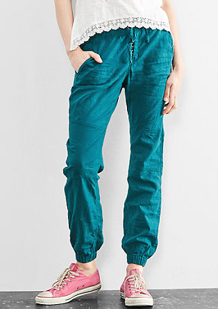 Sporty linen trousers from s.Oliver