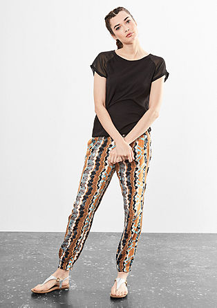 Printed tracksuit bottoms from s.Oliver
