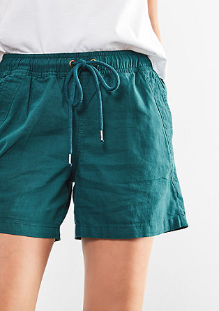 Shorts aus Leinen-Mix