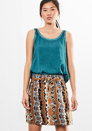 Lightweight skirt with a print from s.Oliver
