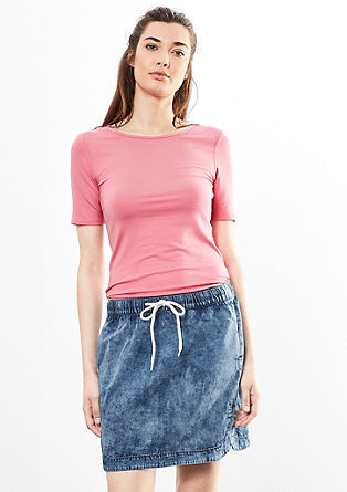 Sporty denim skirt from s.Oliver