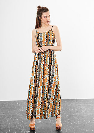 Summery maxi dress with a print from s.Oliver