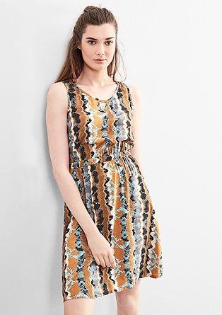 Halenkové šaty setno potiskem
