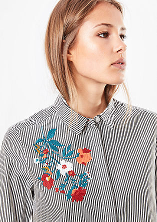 Striped blouse with artwork from s.Oliver