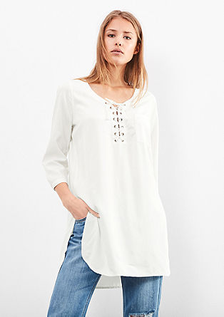 Long blouse with lacing from s.Oliver