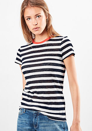 Striped burnt-out T-shirt from s.Oliver