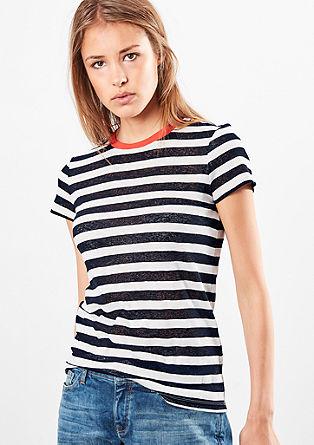 Geringeltes Ausbrenner-Shirt