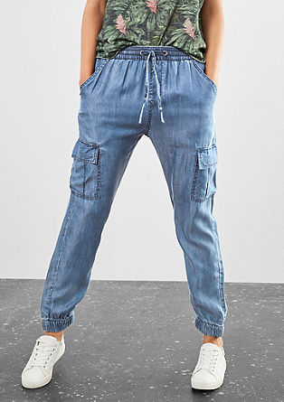 Leichte Jogging Pants in Denim-Optik