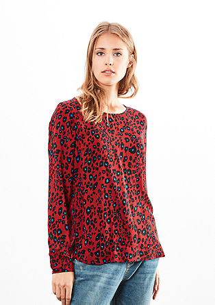 Lightweight blouse with an all-over print from s.Oliver