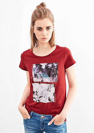 T-shirt with a front print from s.Oliver