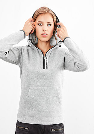 Mottled sweatshirt with zips from s.Oliver