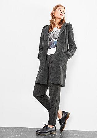Manteau en laine à capuche de s.Oliver