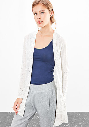 Long-Cardigan aus Fancy-Garn