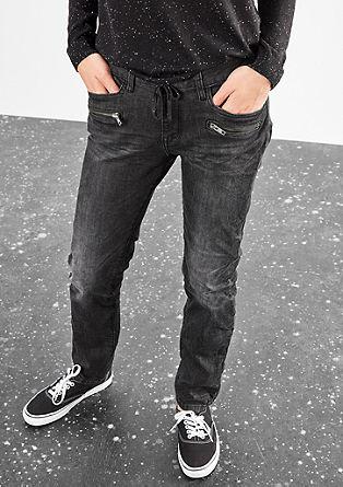 Megan Girlfriend: Jeans hlače z okrasnimi zadrgami