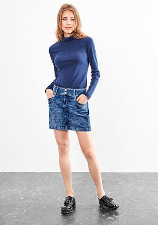 Jeans-Mini mit Doppelknopf