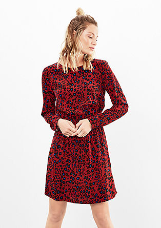 Blouse dress with a printed pattern from s.Oliver