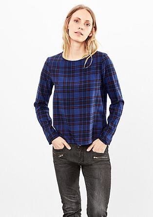 Bluzna majica s karirastim vzorcem