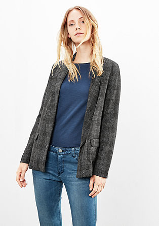 Check boyfriend blazer from s.Oliver