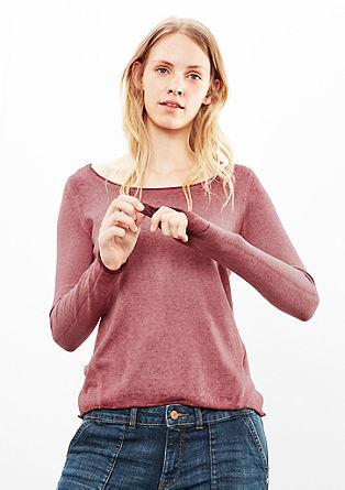 Leichter Pullover mit Wascheffekt