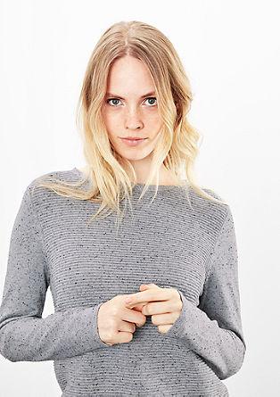 Pullover in Rippstrick-Design