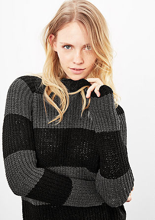 Knitted jumper with block stripes from s.Oliver