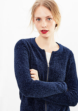 Soft bomber jacket in chenille from s.Oliver