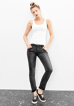 Catie Slim: Jeans mit Zippern