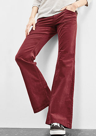 Catie Bootcut: Coloured corduroy from s.Oliver