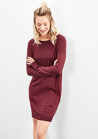 Tonal fine knit dress from s.Oliver