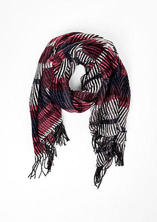 Extra zachte sjaal met franjes