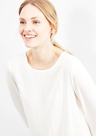 Blusenshirt mit Perlmuttknöpfen