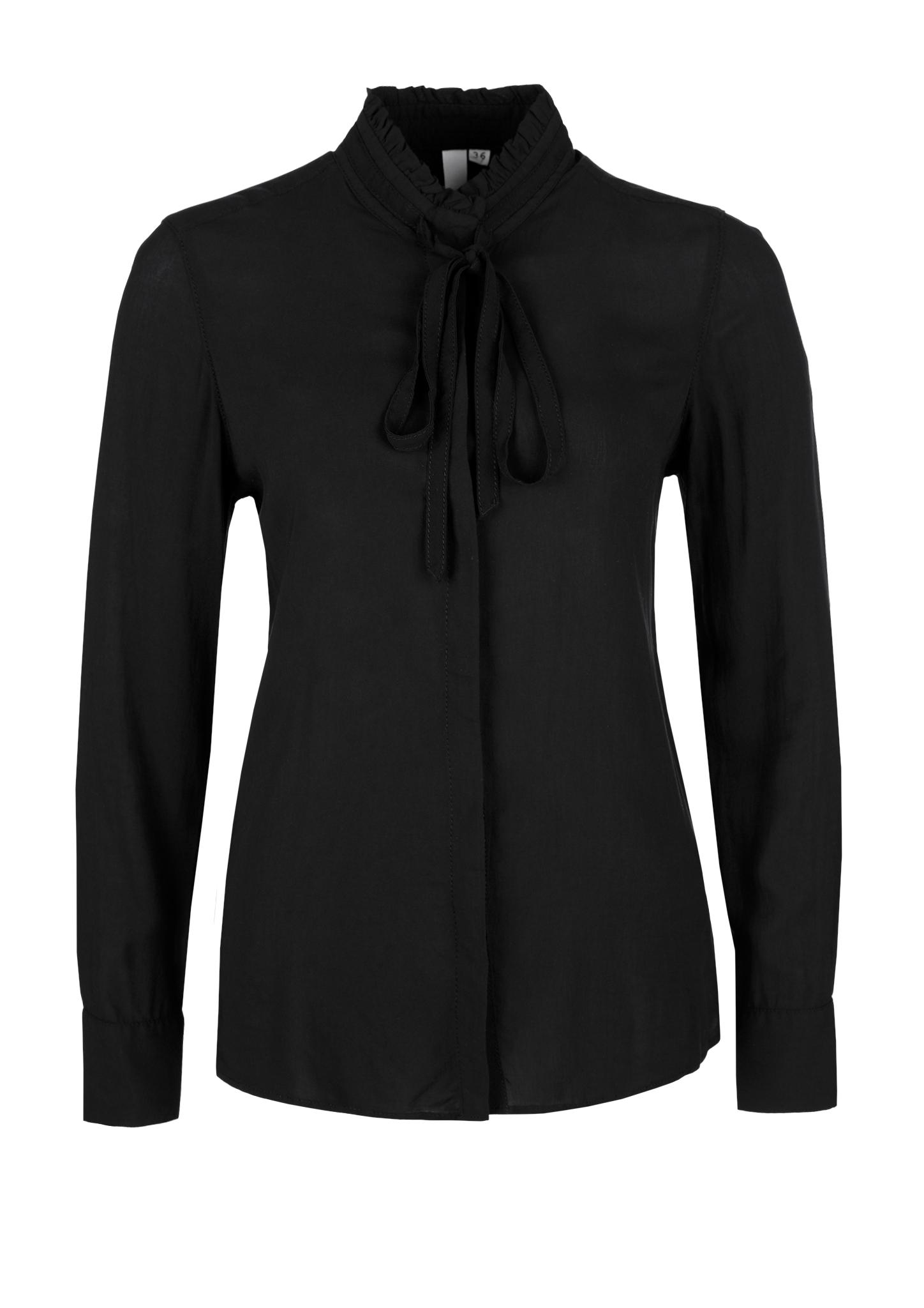 Schluppenbluse | Bekleidung > Blusen > Schluppenblusen | Grau/schwarz | 100% viskose | Q/S designed by