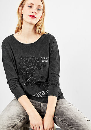 Long sleeve top with embroidery from s.Oliver