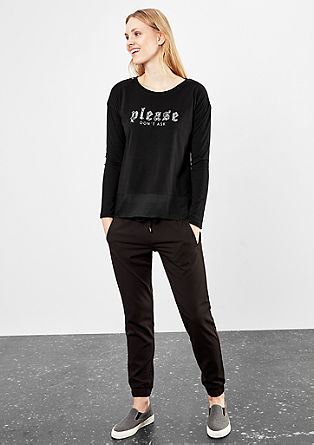 Embroidered T-shirt in a layered look from s.Oliver