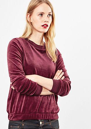 Velvety velour sweatshirt from s.Oliver