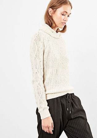 Chenille jumper with a polo neck from s.Oliver
