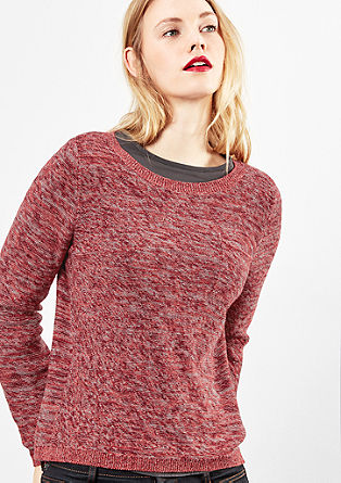 Inside-Out-Pullover in Melange
